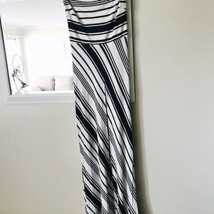 Banana Republic Diagonal Stripe Maxi Dress